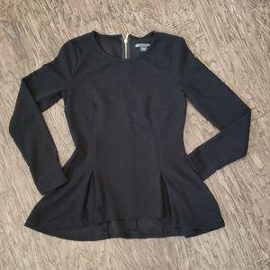 Armani Exchange Black Lace Peplum